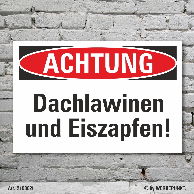 Placa de aviso Vorsicht techo lawinen y carámbanos Peligro ...