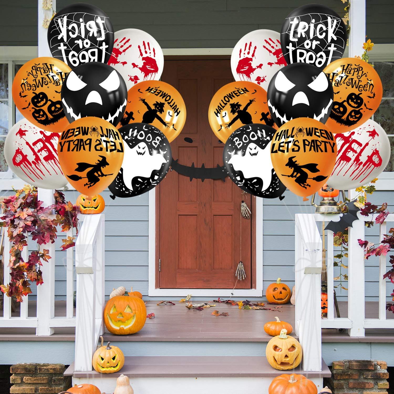 TUPARKA 72 Pezzi Palloncini Decorazioni di Halloween Palloncini in Lattice di Halloween da 12 Pollici Palloncini Divertenti per Halloween Decorazioni per Feste 8 Stile Halloween