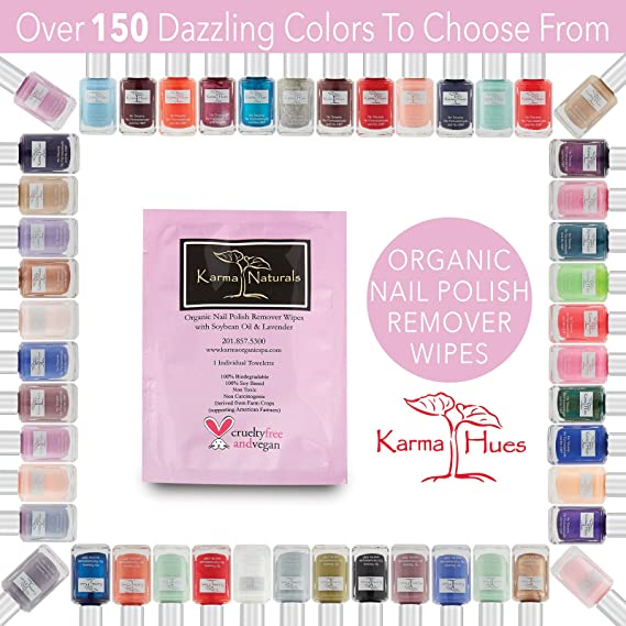 Buy Nail Polish Remover Wipes; Non-Toxic, Vegan, Cruelty-Free by ...