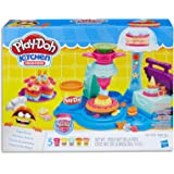 Play-Doh - Kitchen Creations - Cake Party inc 5 Tubs of Dough & Acc m- Creative Kids Toys - Ages 3+
