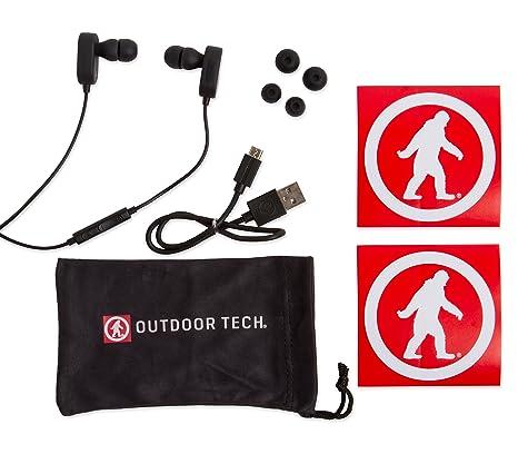 2917f127eff Amazon.com: Wireless Earbuds, Tags 2.0 by Outdoor Tech, Bluetooth  Sweatproof In-Ear Headphones - Black: Electronics