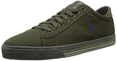 Polo Ralph Lauren Men's Harvey Fashion Sneaker, Company Olive, ...