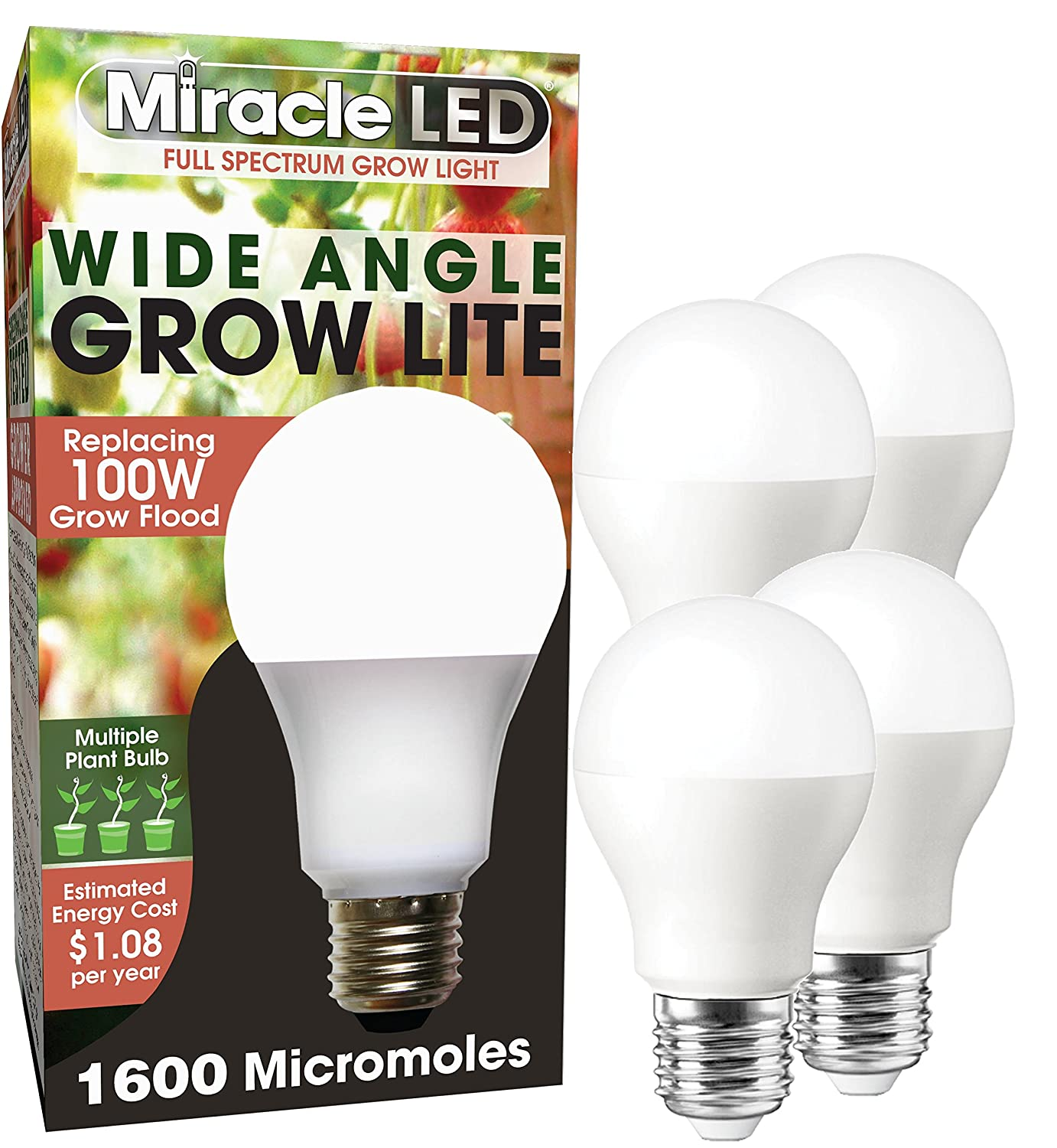 Daylight MiracleLED 604594 Wide Angle LED Full Spectrum Grow Light Replaces 150W with 1900 Micromoles
