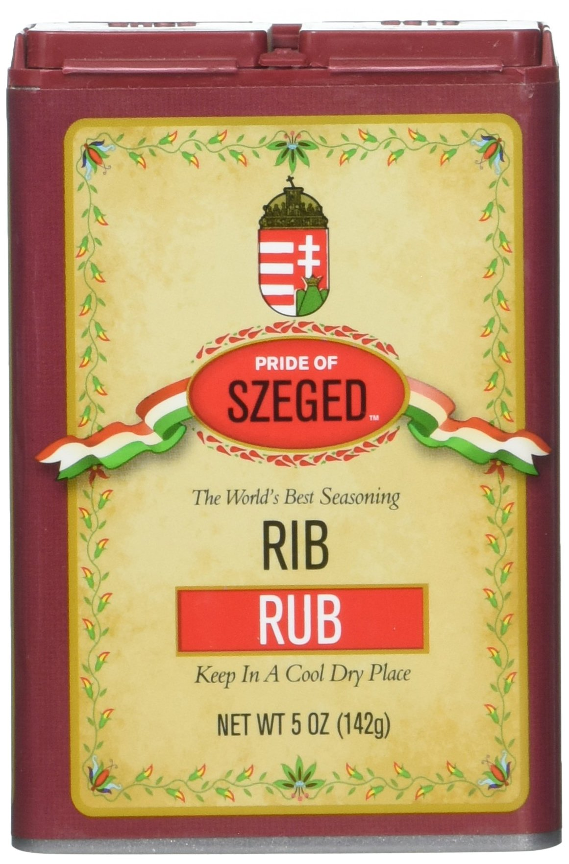 Szeged Seasoning Rib Rub, 5 Ounce Tin