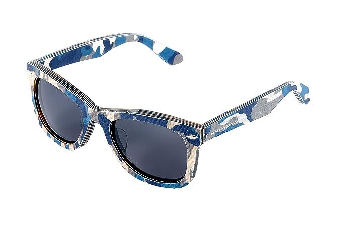 Camuflaje gafas de sol acetato de tela híbrida: Amazon.es ...