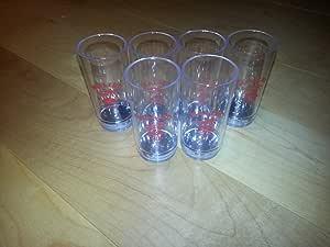 Amazon.com: Malibu Red Rum - Set of Six (6) Plastic Shot ...