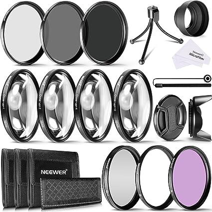 Neewer Kit Filtro Lente 58mm Cámara,Filtros Aproximación (+1,+2,+4 ...