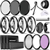 Neewer 58MM Camera Lens Filter Kit Includes 58MM Close up Filters ND Filters(ND2 ND4 ND8) and UV CPL FLD Filters Lens Hood and Other Accessories for Lenses with 58MM Filter Size