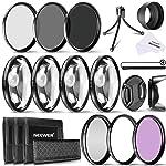 Neewer 58mm lente de la cámara Filtro Kit incluye 58mm Close Up filtros , filtros ND y UV, CPL FLD Filtros, parasol y...