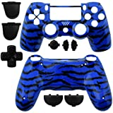 GAMINGER Exchange Housing for Sony PlayStation 4 Dualshock 4 Controller Skin Shell Case Housing Kit Case Skin Accessories Custom Mod Tuning – CAMOUFLAGE BLUE BLACK