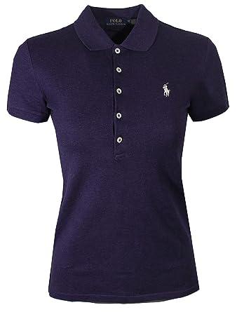 Ralph Lauren Polo Womens Slim Fit Mesh 5 Button Polo Shirt at Amazon ... e11acdcd47