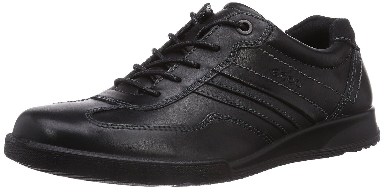Ecco Transporter - Zapatos de cordones para hombre, color negro (Black/Black 51052), talla 42
