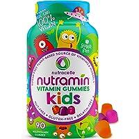 NUTRAMIN Sugar-Free, Allergen-Free & Vegan Gummy Multivitamins for Kids - Great Tasting Gummies Your Kids Will Love - 90…