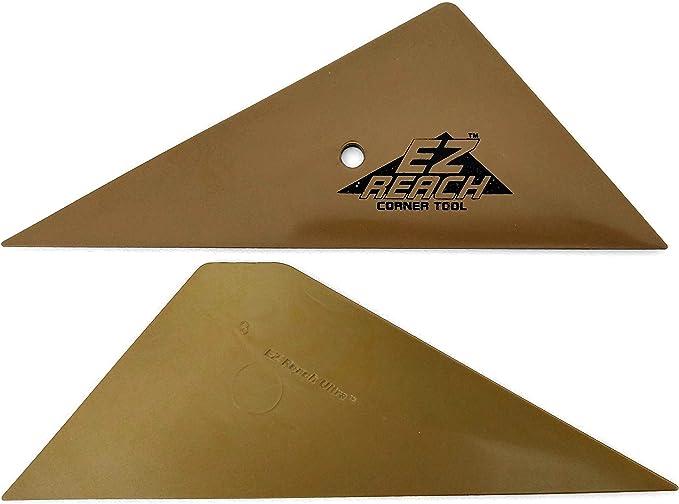 "Lot of 2 4/"" Gold Teflon Hard Card Auto Glass Window Film Tint Installation Tools"