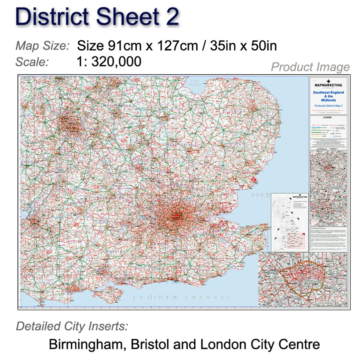 Bristol On The Map Of England.Postcode District Map 2 England And The Midlands Birmingham