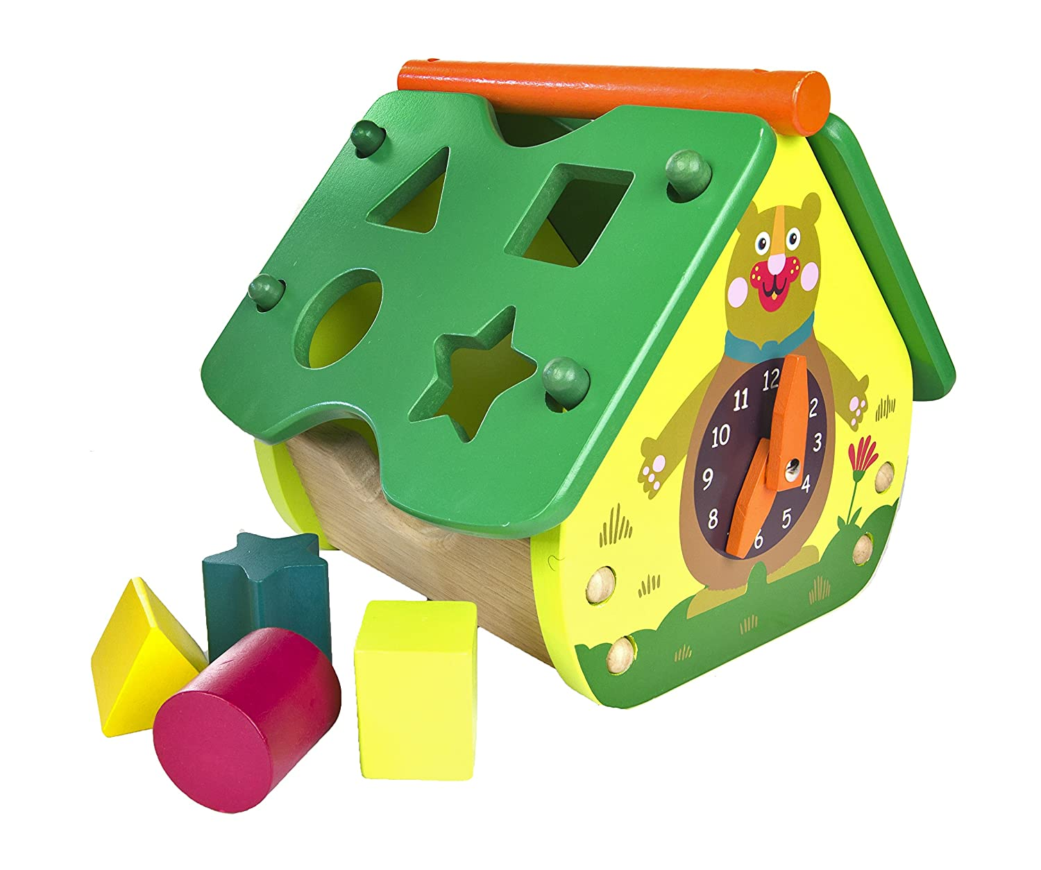 5-Piece Ages 3 and Up 00448 Encourages Imaginative and Mental Development Oops My Activity House and Blocks with Chocolat Safe and Easy Clean