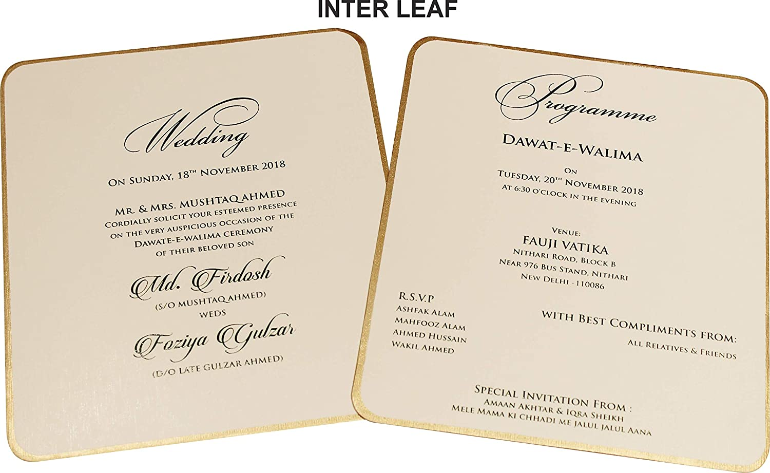 Wow Invitation Card With Sticker Red 9 5x7
