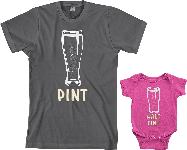 Amazon Com Threadrock Pint Half Pint Infant Bodysuit Men S T Shirt Matching Set Clothing