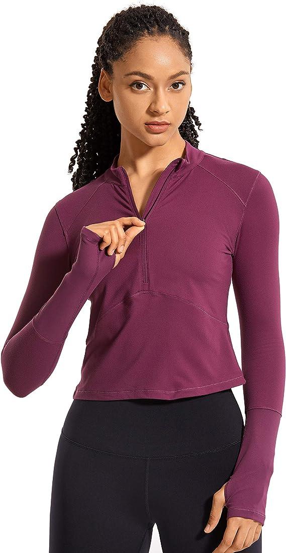 CRZ YOGA Damen Crop Sporttop Fitness Oberteile Tank Top /Ärmellos Shirt