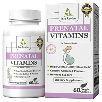 Prenatal Vitamins One a Day Supplement High in Folic Acid - Balanced Multivitamin with Calcium,