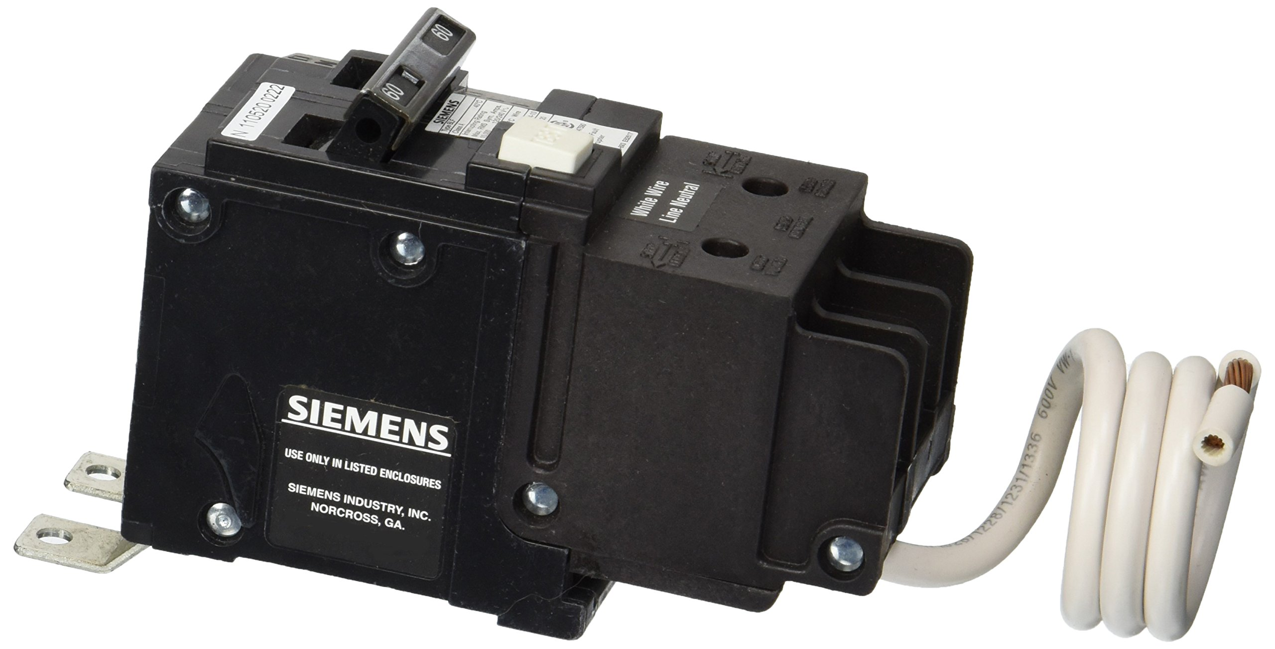 Siemens BF260 60-Amp Double Pole 120 / 240-Volt 10KAIC Ground Fault Circuit interrupter