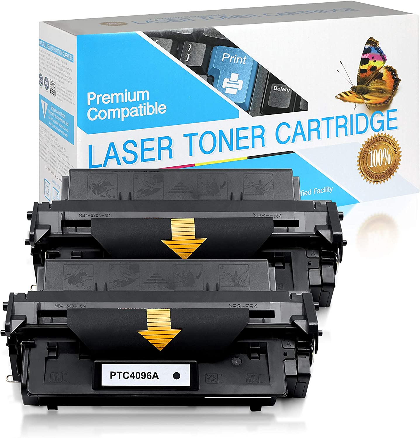 SuppliesOutlet Compatible Toner Cartridge Replacement for HP 96A / C4096A (Black,2 Pack)