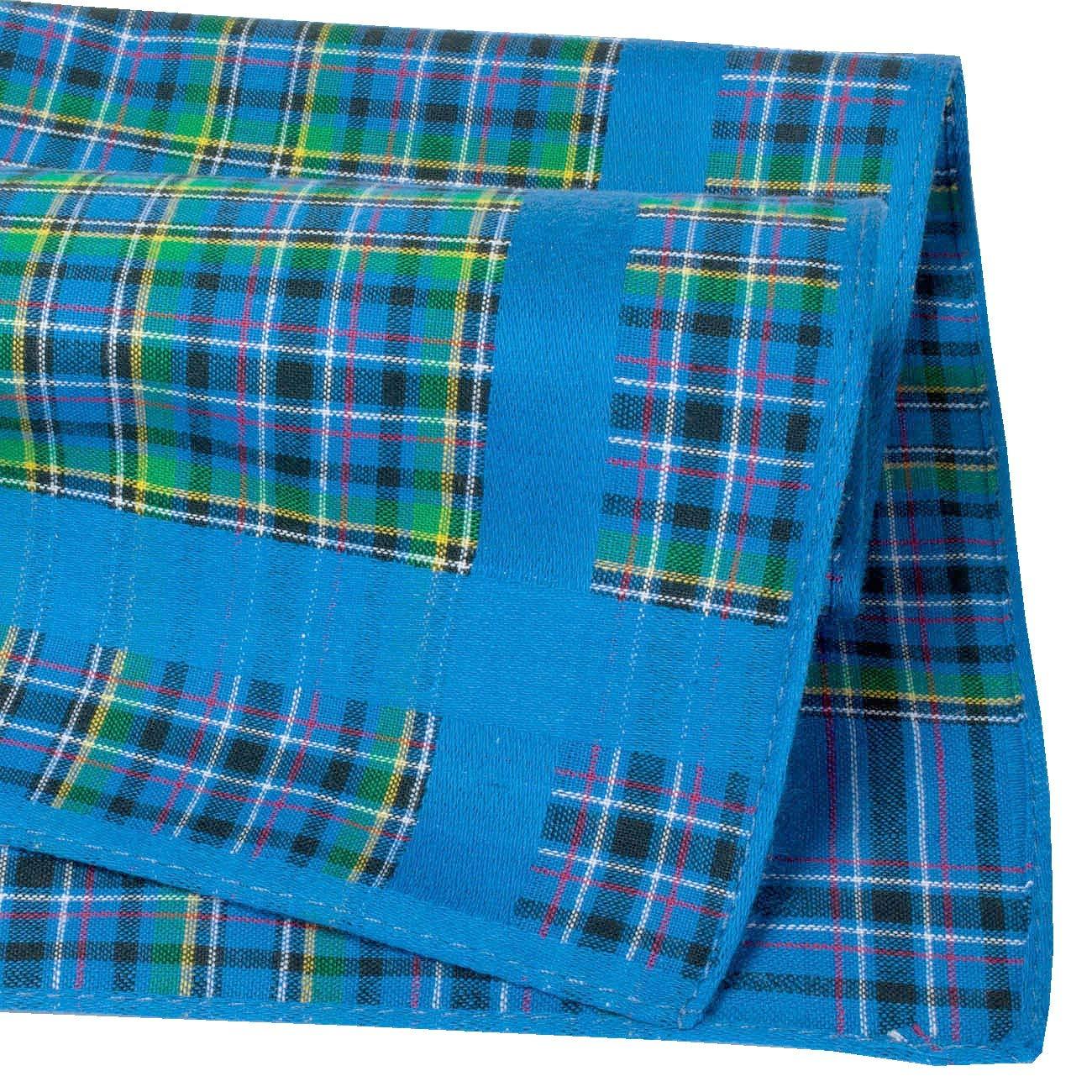 Fazzoletti Tartan 100/% Cotone 6 Pezzi Modello Glencoe- Piccola Dimensione 28cm Merrysquare
