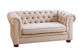 amazon com abbyson kids teddy mini chesterfield sofa beige rh amazon com