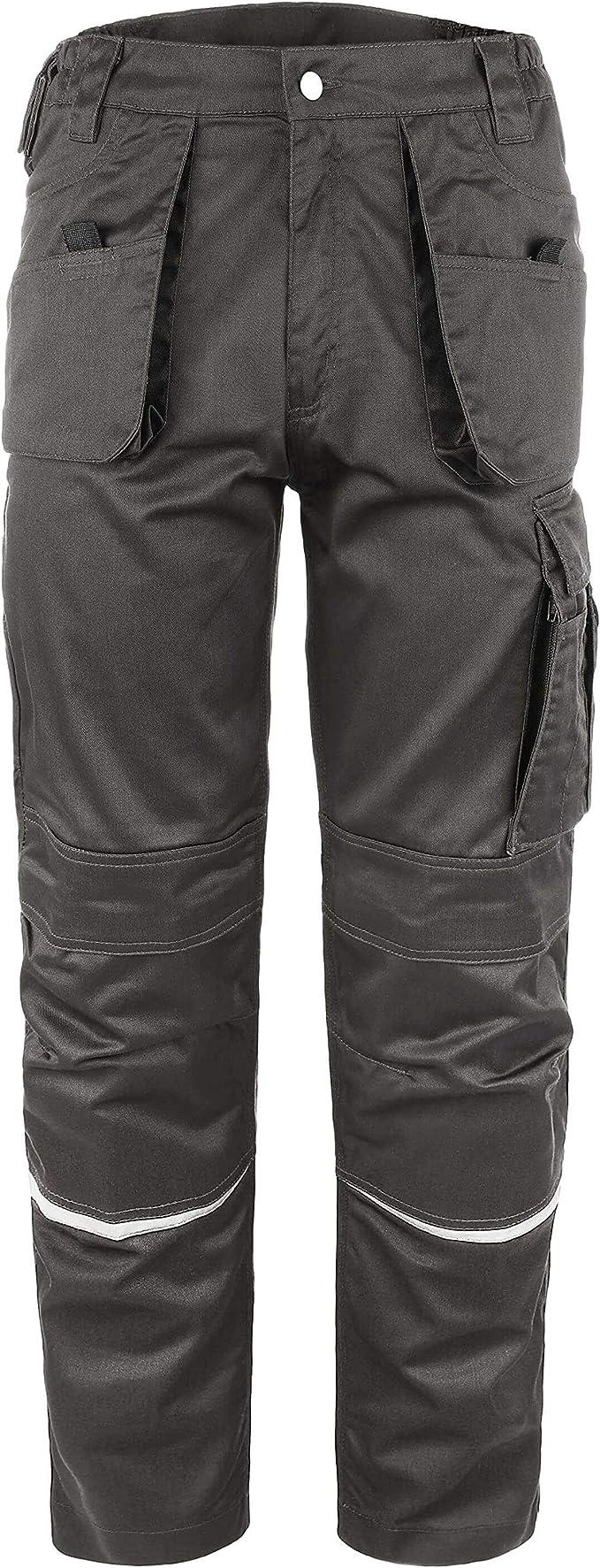 TMG/® Herren Arbeitshose Cargo Bundhose mit Kniepolster-Taschen