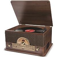 ION Audio Superior LP - 7-in-1 muziekcentrum (platenspeler, cd- en cassettespeler, radio, Bluetooth-streaming, USB…