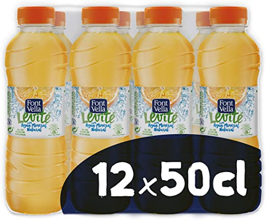 Font Vella Levité Agua Mineral con zumo de naranja - Pack 12 x 50cl: Amazon.es: Productos para mascotas