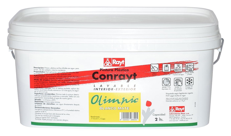 RAYT-CONRAYT OLIMPIC - 268-20 Pintura plá stica blanco mate, interior-exterior - 2 lt Laboratorios Rayt S.A.