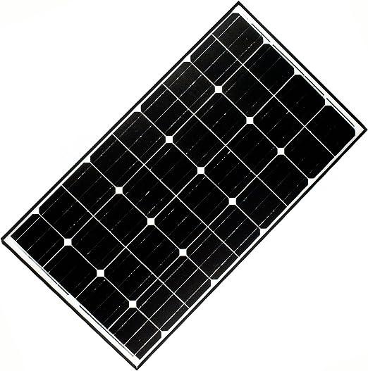 Aleko 125w 125 Watt Monocrystalline Solar Panel Amazon Ca Patio Lawn Garden
