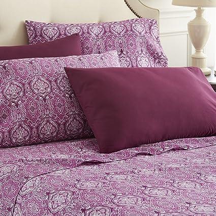 Amazon Com Spirit Linen Hotel 5th Ave 6 Piece Elegant Home Paisley