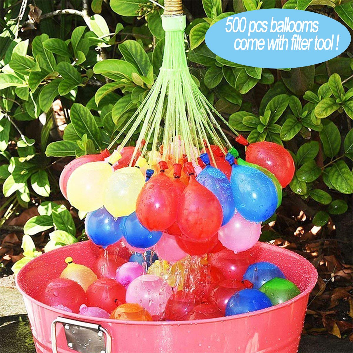 URUNIQ 111/500/1000 Pieces Water Bomb Toys, Water Bomb Quick Self Closing Water Balloons Seal Loading in 60 Seconds Suitable for Water Feature, Play in Pool, Summer Must-Haves, Random Colors (1000)