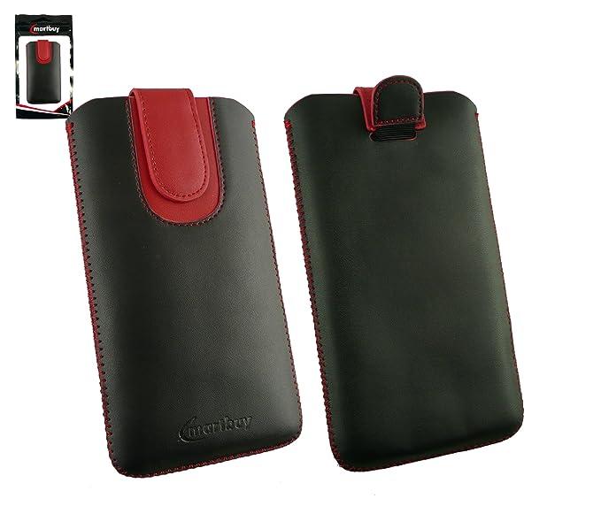 2 opinioni per Emartbuy® Nero / Rosso PU Pelle Custodia Case Cover Sleeve ( Misura 5XL ) con