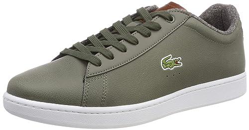 49dd2171dd96f0 Lacoste Sport Herren Carnaby Evo 318 2 SPM Sneaker Grün (Khk BRW Kb1)
