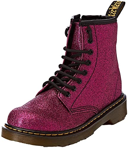 price reduced cheapest price Clearance sale #Dr Martens 1460 Delaney Purple Glitter Kids Zip Boots