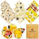 Beeswax Food Wraps Reusable Set – 9 Pcs Beeswax Wrap Sustainable Cover, Reusable Wax Food Wraps, Bees Wrap Food Storage Bread