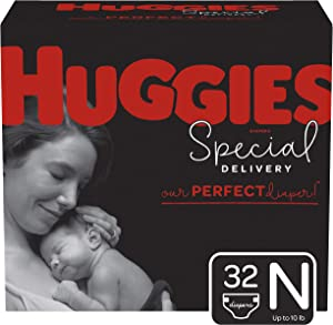 Huggies Special Delivery Hypoallergenic Baby Diapers, Size Newborn, 32 Ct