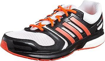 Zapatillas Adidas Questar Boost M -Blanco/Rojo-: Amazon.es ...