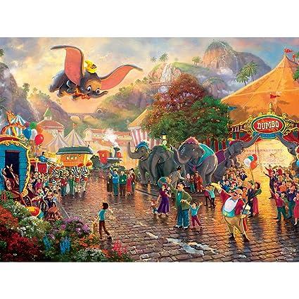 Amazon.com: Ceaco Thomas Kinkade Collection Disney de Dumbo ...