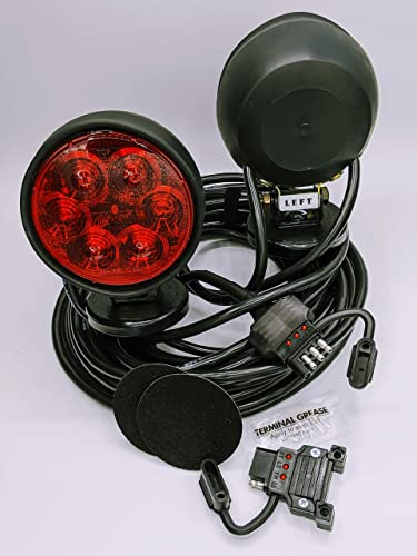 30 ft 4 pin plug cord Custer Products HDTL30B Incandescent Round Base Heavy Duty Towing Lights