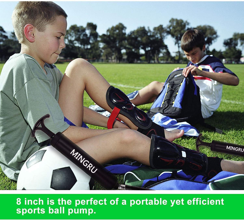 MINGRU Bomba de Bola para Baloncesto Voleibol Bola de Polo de Agua y Otras Bombas de Aire inflables Agujas y boquillas Incluidas Rugby f/útbol