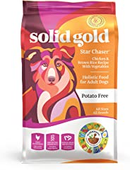 Solid Gold - Star Chaser - Chicken, Brown Rice With Vegetables - Natural Whole Grains - Holistic - Potato Free - Dog Food for