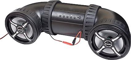 """Bazooka 8"""" ATV-Tube Off Road Bluetooth Speaker System (Black)"""