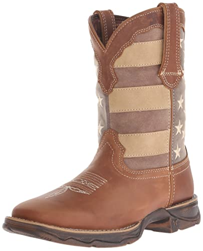 Women's DRD0107 Boot Brown/Faded Union Flag 10 M US