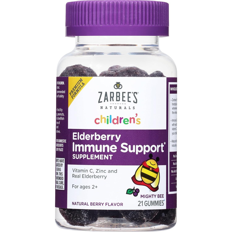 Zarbee's Naturals Children's Elderberry Immune Support* Gummies, With Vitamin C, Zinc & Elderberry, 42 Gummies (1 Bottle) Zarbee's Naturals 274