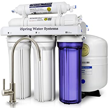 ISpring RCC7 WQA Gold Seal Certified 5 Stage Reverse Osmosis Drinking Water  Filter System