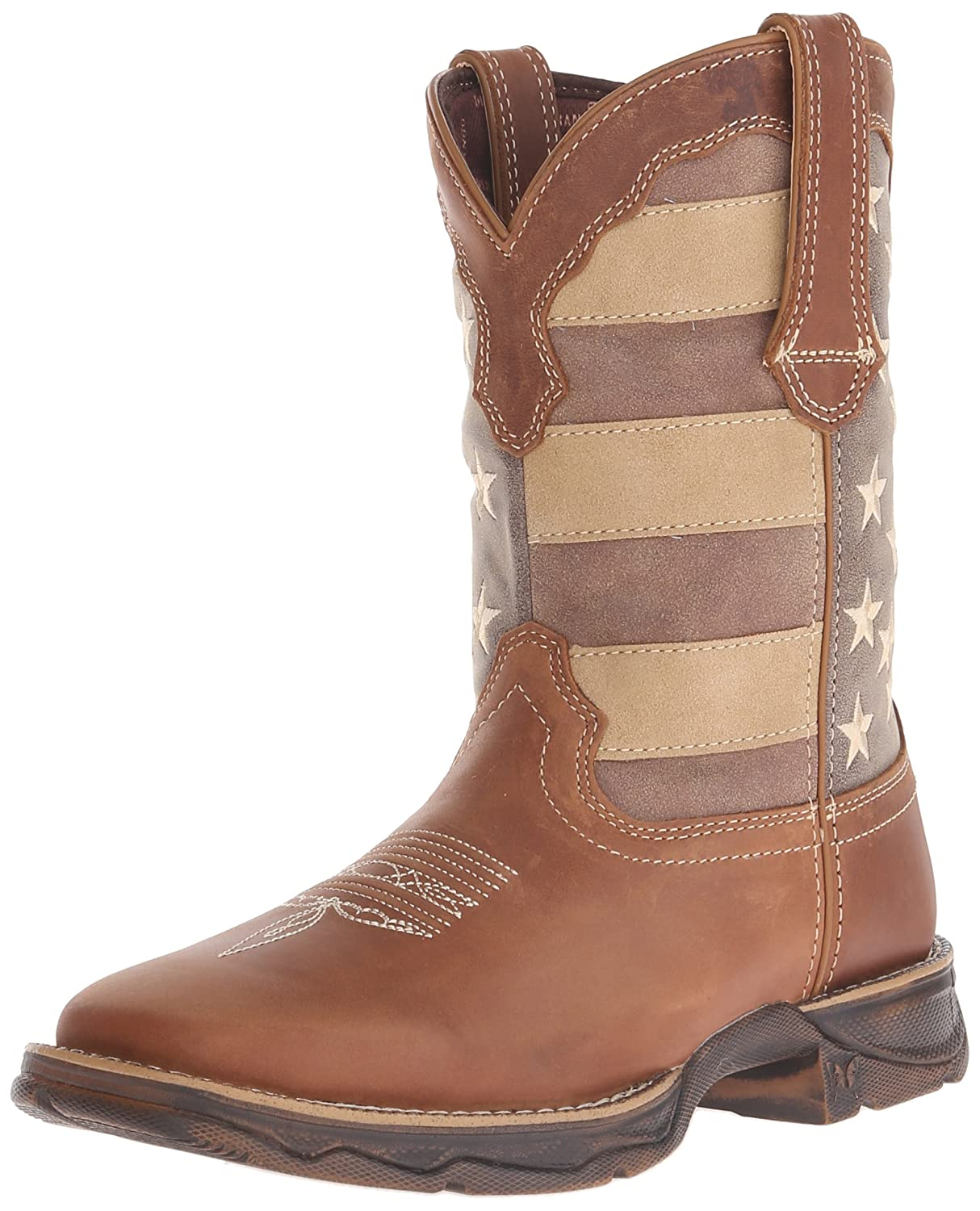 Durango Women's DRD0107 Western Boot B016W1P2LM 9 B(M) US|Brown/Faded Union Flag